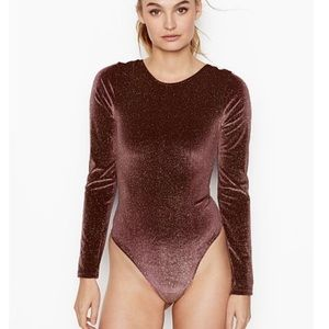 Victoria Secret sport purple rhinestone bodysuit